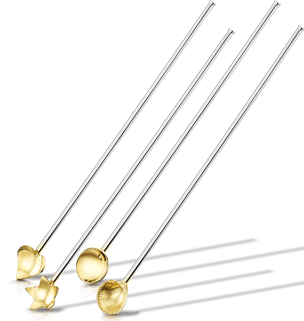 Set of four gold dipped GinGenies